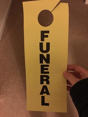 Today I went to a funeral…